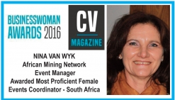 Businesswoman Award Nina van Wyk